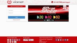 Customer Portal Vianet