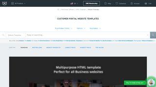 Customer Portal Website Template