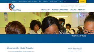 Cut Ac Za Student Portal
