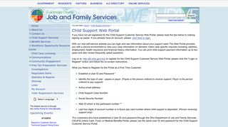 Cuyahoga County Child Support Web Portal
