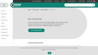 Deakin Job Portal