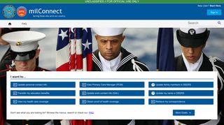 Defense Manpower Data Center Dmdc Milconnect Portal