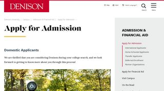 Denison University Application Portal