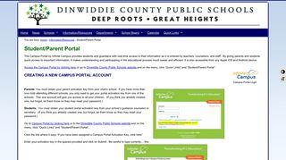 Dinwiddie Campus Portal
