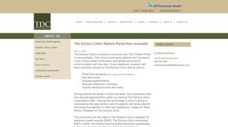 Doctors Clinic Patient Portal