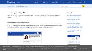 Docusign Admin Portal