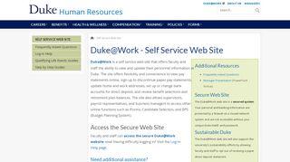 Duke Work Portal