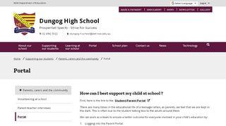 Dungog High School Student Portal