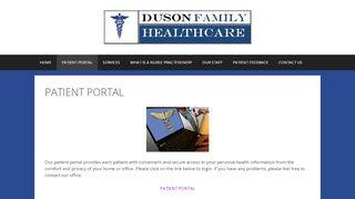 Duson Family Healthcare Patient Portal