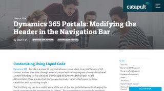 Dynamics 365 Portal Header Customize