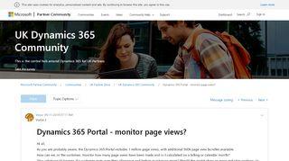Dynamics Portal Page Views