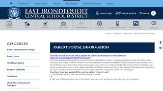 East Irondequoit Middle School Parent Portal