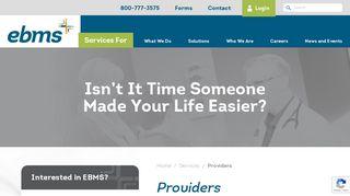Ebms Provider Portal