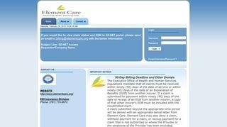 Element Care Provider Portal