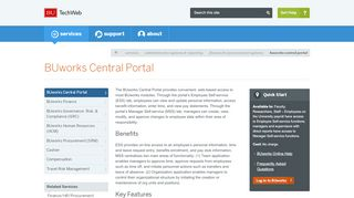Employee Self Service On The Buworks Central Portal