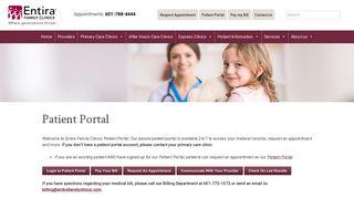 Entira Patient Portal