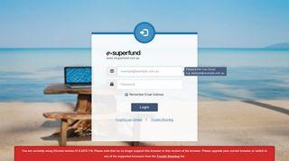 Esuperfund Client Portal