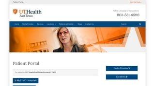 Etmc Patient Portal