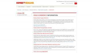 Family Dollar Vendor Portal