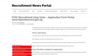 Federal Civil Service Commission Registration Portal