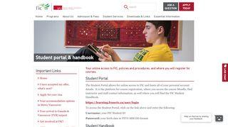 Fic Student Portal