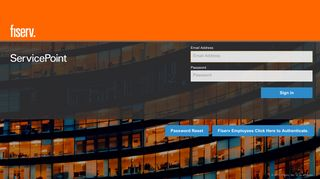 Fiserv Service Point Portal