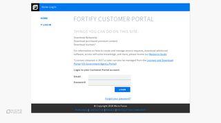 Fortify Customer Portal