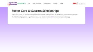 Foster Care To Success Student Portal