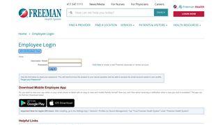 Freeman Employee Portal