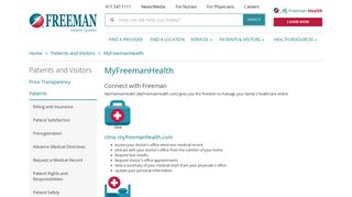Freeman Patient Portal