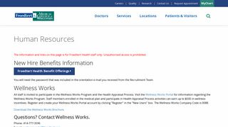 Froedtert Wellness Works Portal