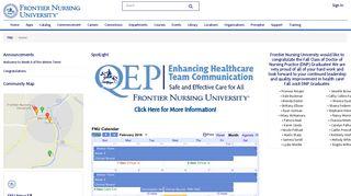 Frontier Nursing University Portal