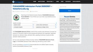 Fukashere Admission Portal