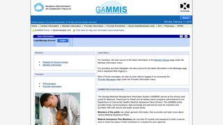 Gammis Web Portal