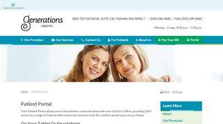 Generations Ob Gyn Patient Portal