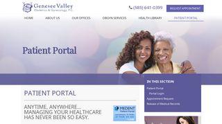 Genesee Valley Ob Gyn Portal