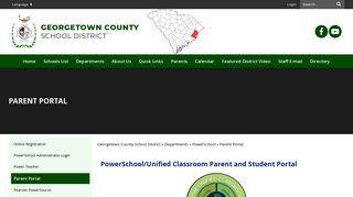 Georgetown County School District Parent Portal