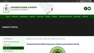 Georgetown Middle School Parent Portal