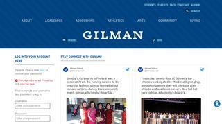 Gilman Parent Portal