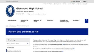Glenwood High School Student Portal