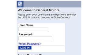 Gm Global Connect Vssm Security Portal