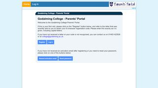 Godalming College Parents Portal