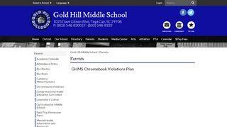 Gold Hill Middle School Parent Portal