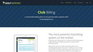 Golf Nations Admin Portal