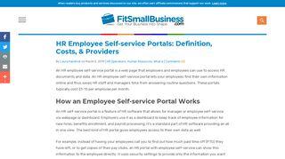 Good Work Self Service Portal
