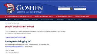 Goshen Parent Portal