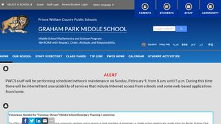 Graham Park Middle School Parent Portal