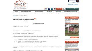 Hacb Applicant Portal