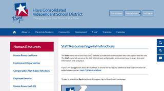 Hays Cisd Employee Portal