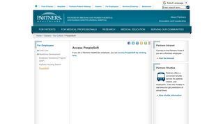 Healthcare Partners Employee Portal